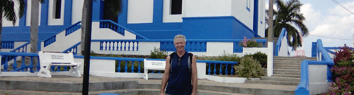 In front of the historic church in Usiacuri.