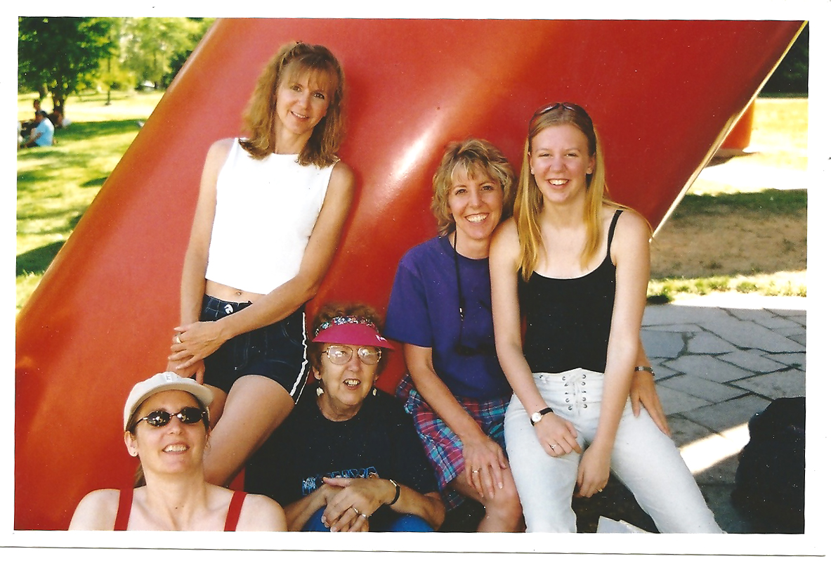 My late wife Cheryl with her systers Debbie and Patti and their mother Gloria and Debbies daughter Nicole, in 2003