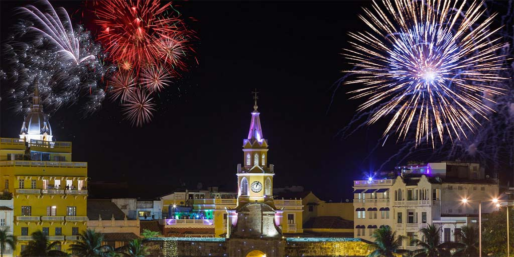 New Year's Celebration in Cartagena, Colombia